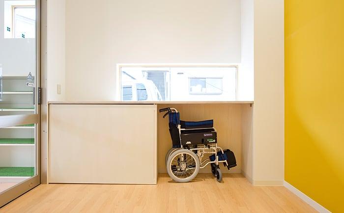 院内用の車椅子も完備